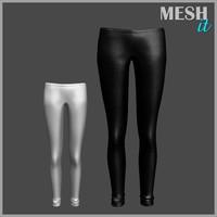 pants skinny 3d obj