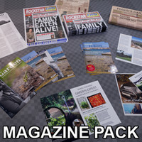 Magazines and Newspaper Pack - PBR Game Ready