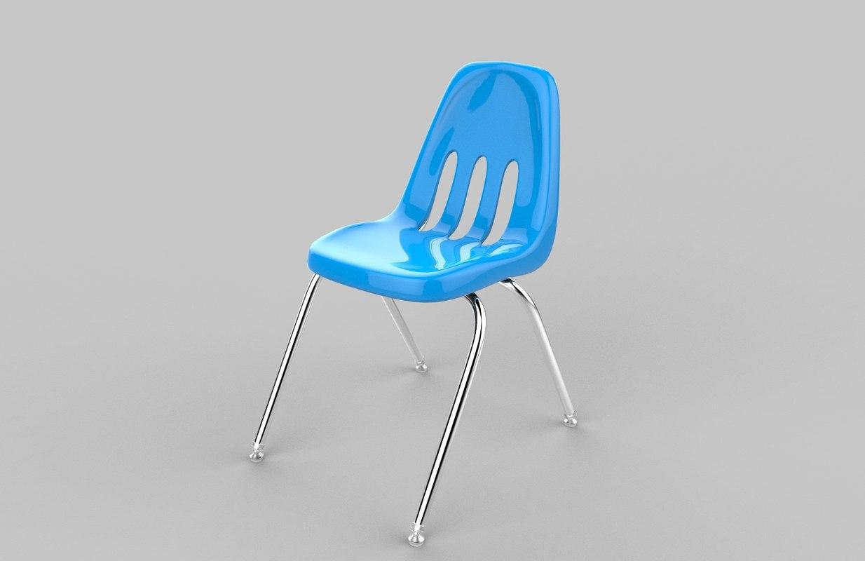 modelled blue chair 3d max