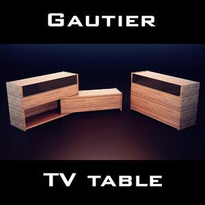 3d model gautier quartz chest drawers