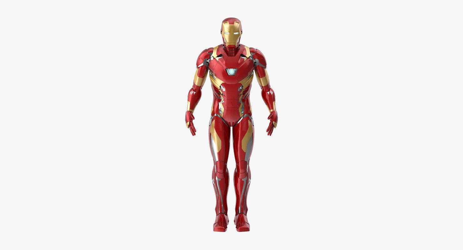 3d model iron man mark 46