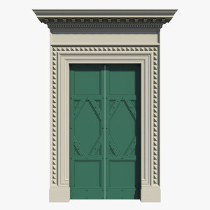 renaissance entrance door 3d model