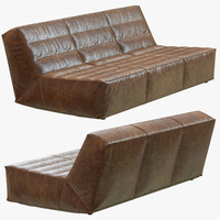 restoration hardware chelsea leather sofa 3d max