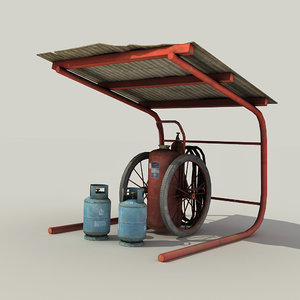 3d model retro extinguisher -