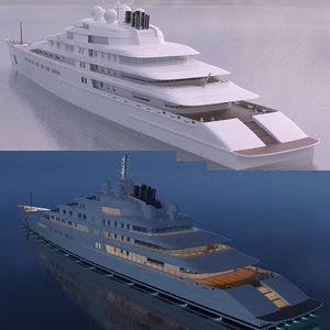 super yacht azzam 3d obj