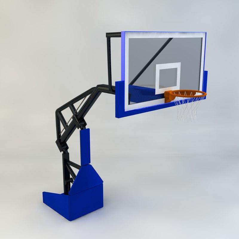 basketball hoop 3d max