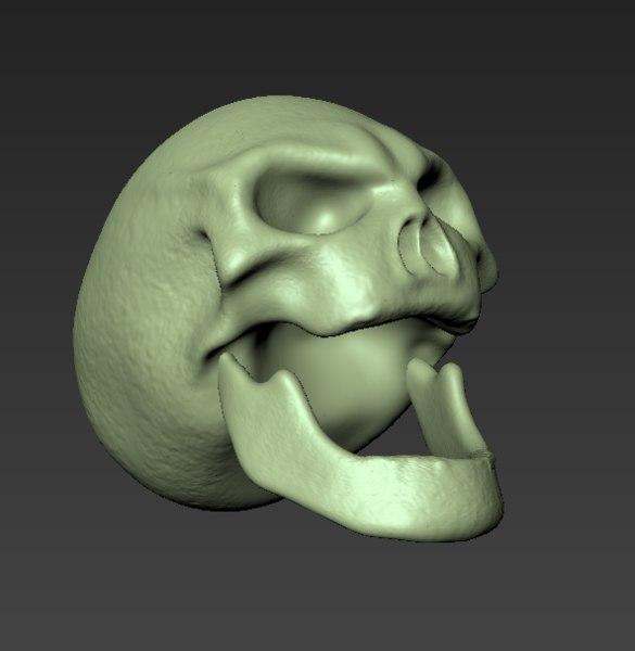 3d skull mudbox