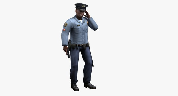3d model policeman rigged