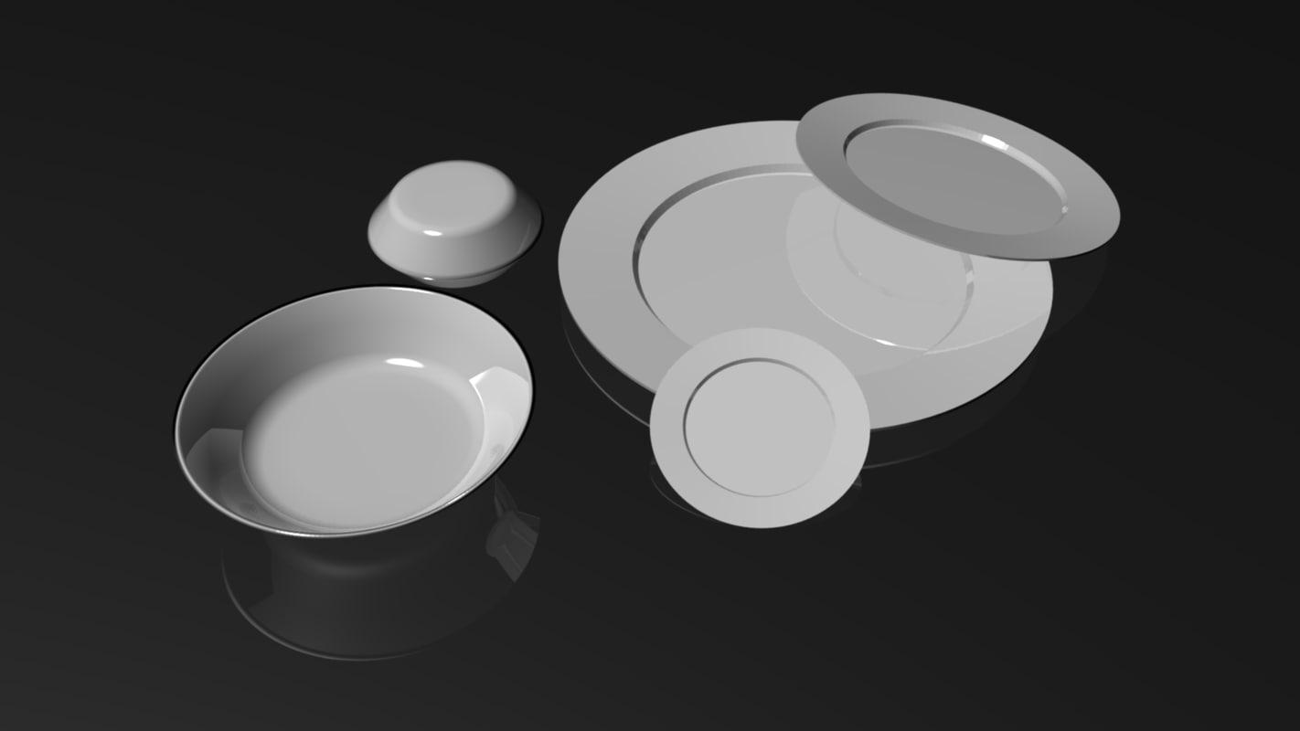 3d plates platos