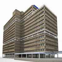 3d model university building exterior