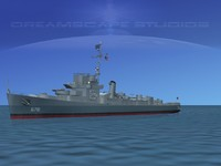 3d model guns buckley class destroyer