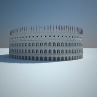 roman colosseums statues 3d model