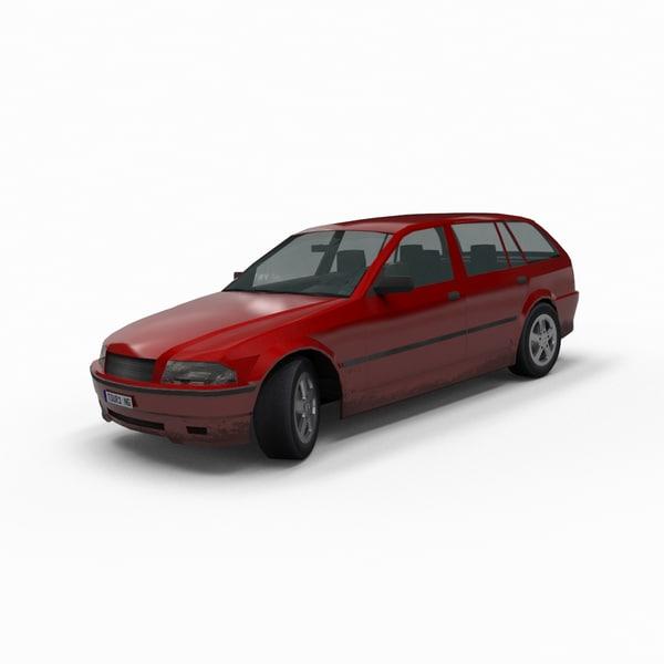 generic touring car 3d x