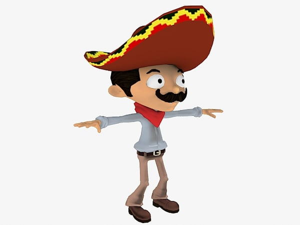 3d model mexican mecanim stand-alone