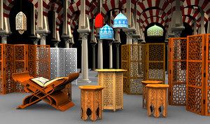 islamic art oriental 3d max