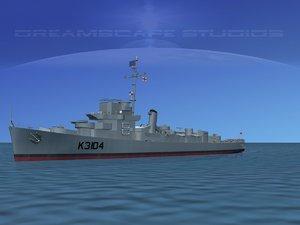 3d model guns captains class frigate