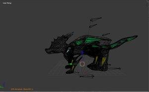 dragon rigged 3d model
