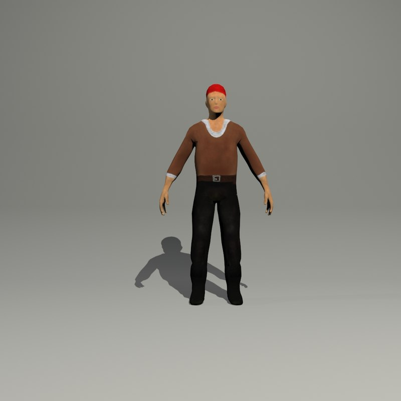 pirate man 3d model
