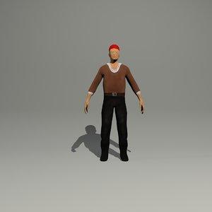 pirate man 3d model