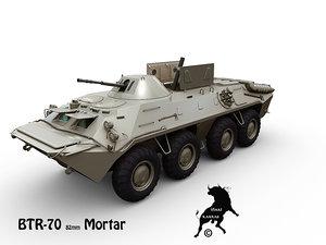 ukranian mortar btr-70 btr 3d model