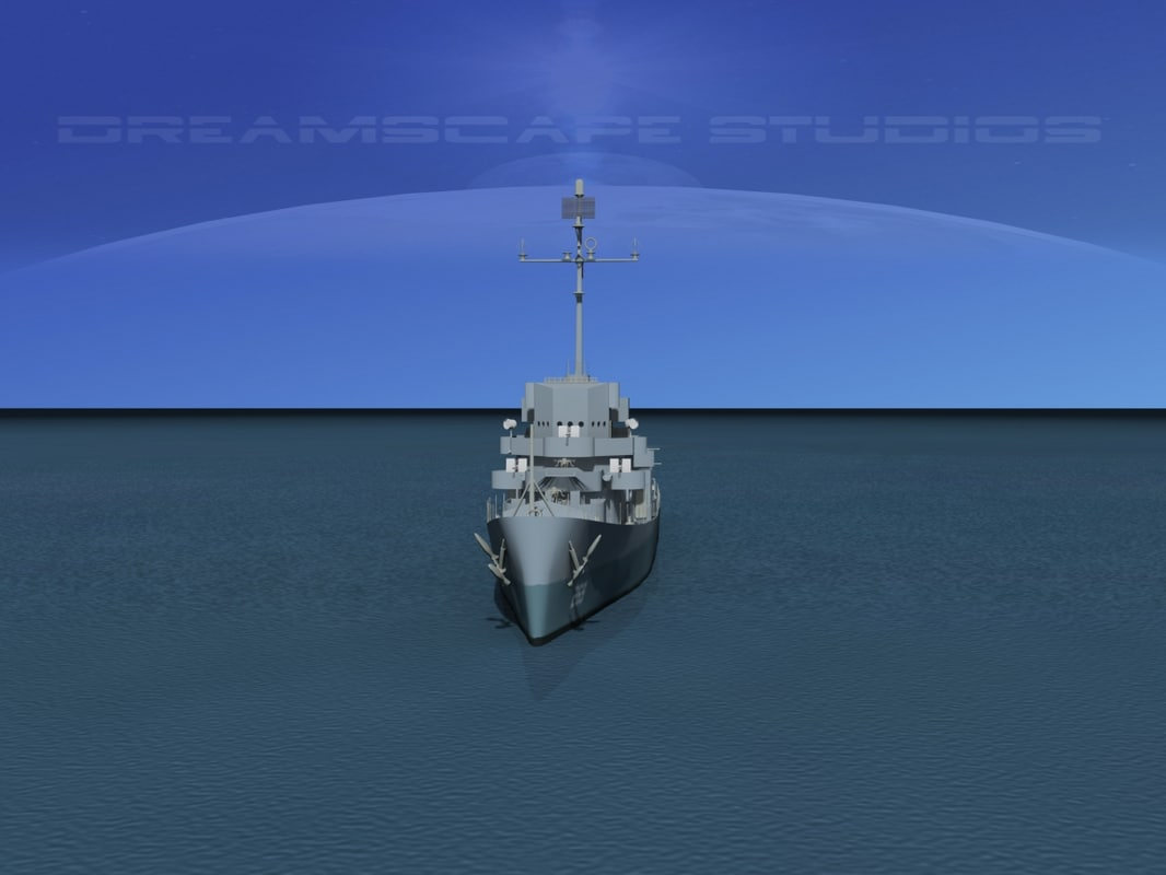 3d depth evarts class destroyer model