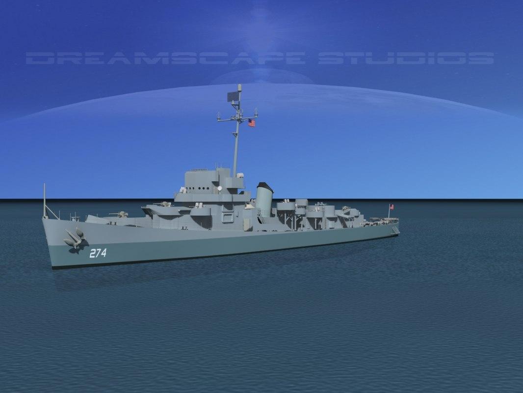 depth evarts class destroyer 3d max