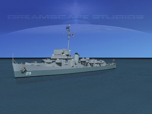 depth evarts class destroyer 3d model