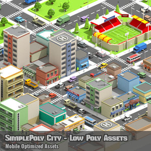 x simplepoly city - assets