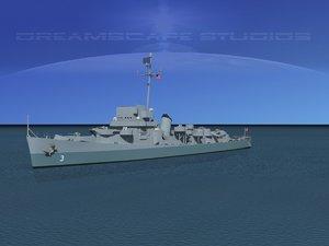 3d depth 3 evarts class destroyer model
