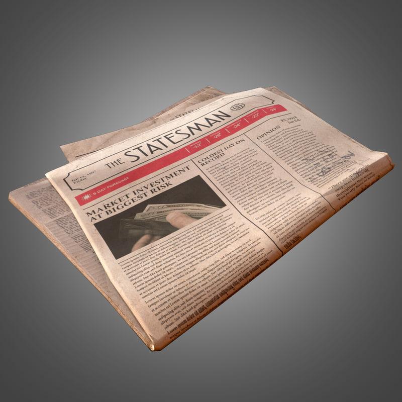 3d newspaper - pbr ready