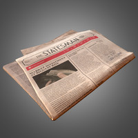 3d newspaper - pbr ready