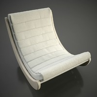 3d model verner panton relaxer chair