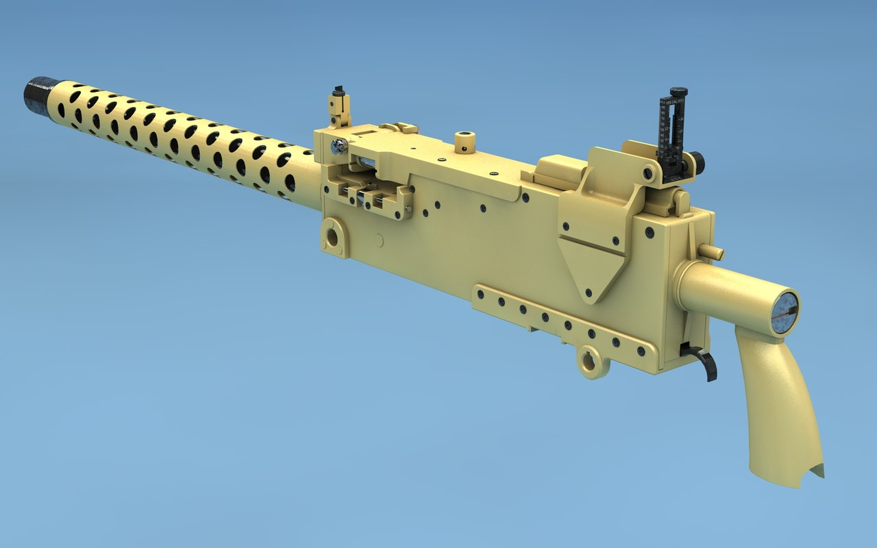 3d browning m1919 model