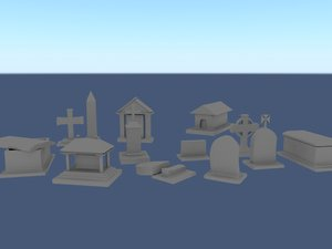 3d 13 tombstone model