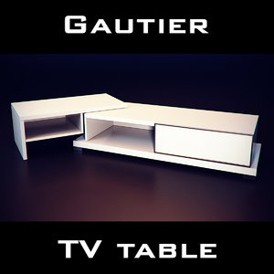 3d model gautier urban tv extension
