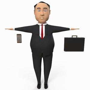 chubby business man m 3d ma