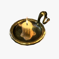 3d brass candle holder