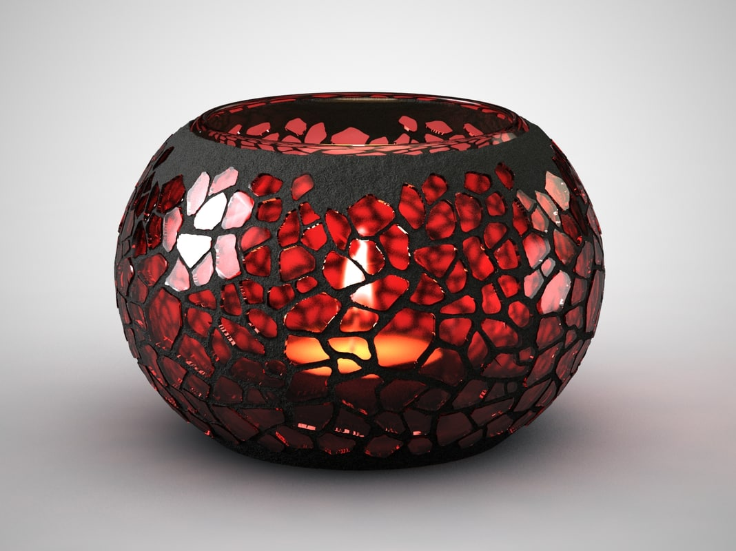 candle holders 3d max