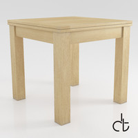 3d model - square dining table