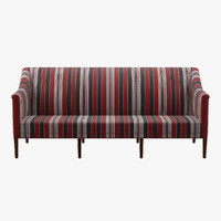3d model kk60921 greek sofa 3 seater