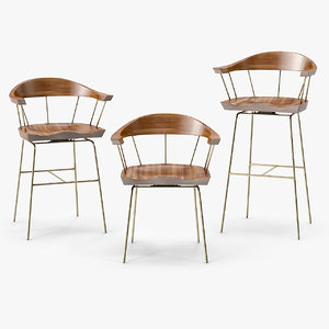 cb-28 spindle chair bassamfellows 3d obj
