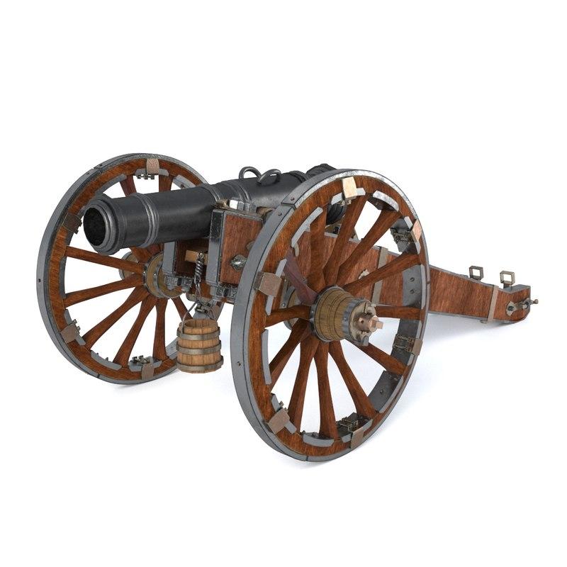 russian artillery unicorn yedinorog 3d max