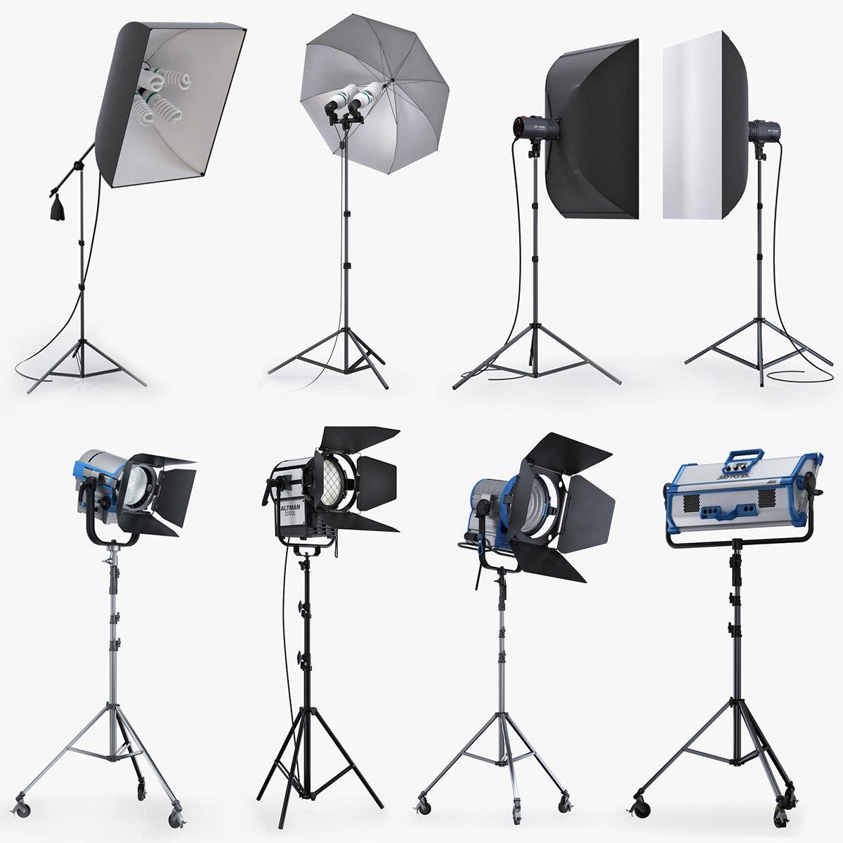 studio lighting softbox 3d lwo