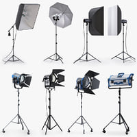 studio lighting softbox 3ds