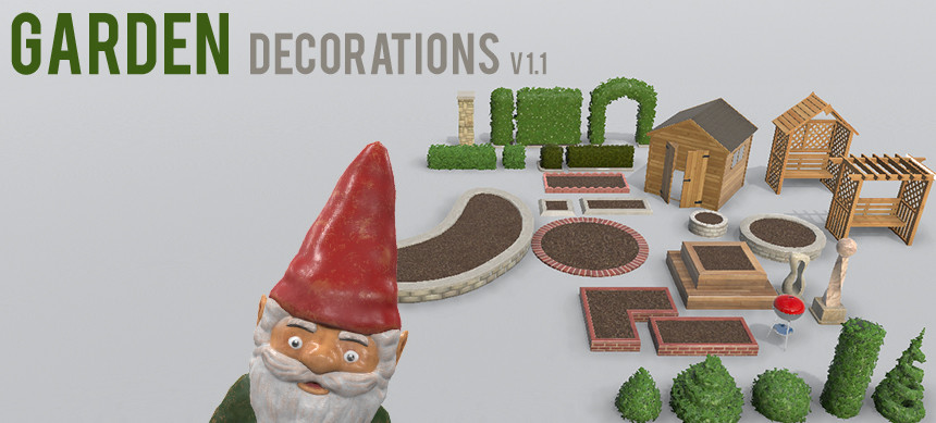 3d garden decorations