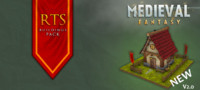 medieval fantasy rts buildings 3d x
