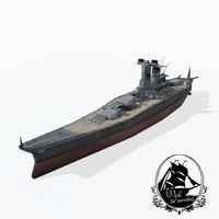 3ds yamato battleship ship