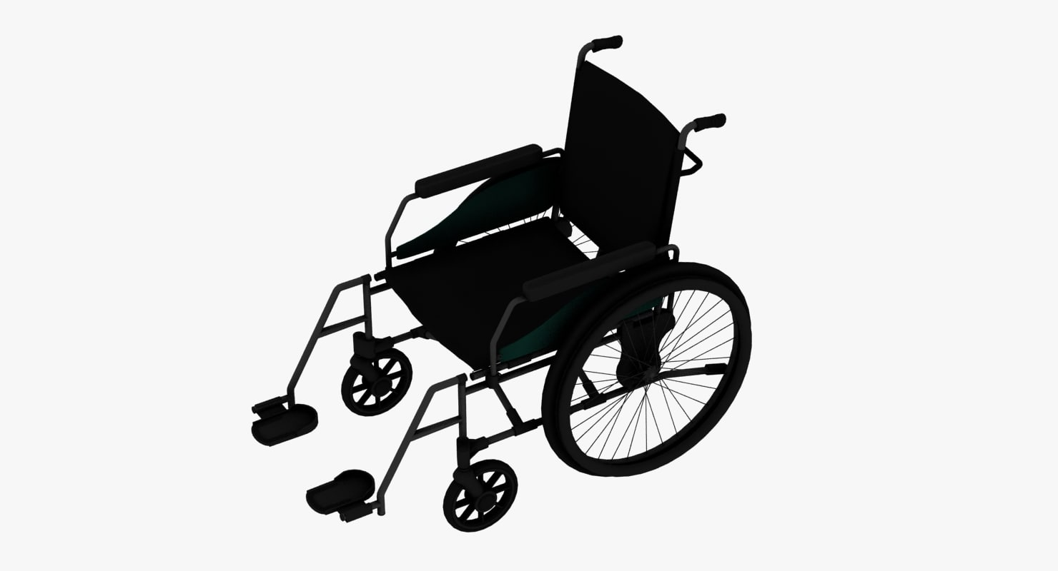 wheel chair 3d dwg