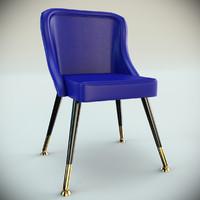 3d model club chair 3554