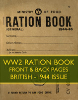 WWII Ration Book (1944 issue)